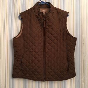 Relativity Brown Quilted Vest